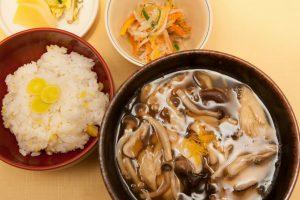 「十月の季節のお蕎麦とご飯」