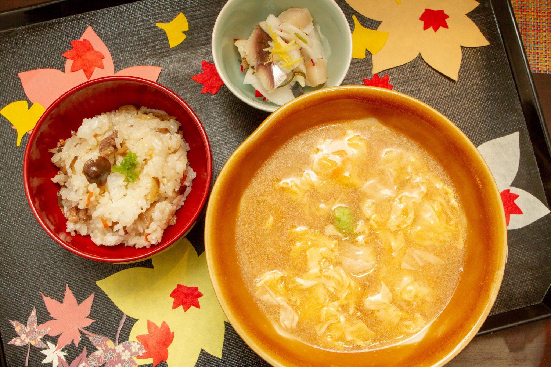 11月の季節のお蕎麦とご飯