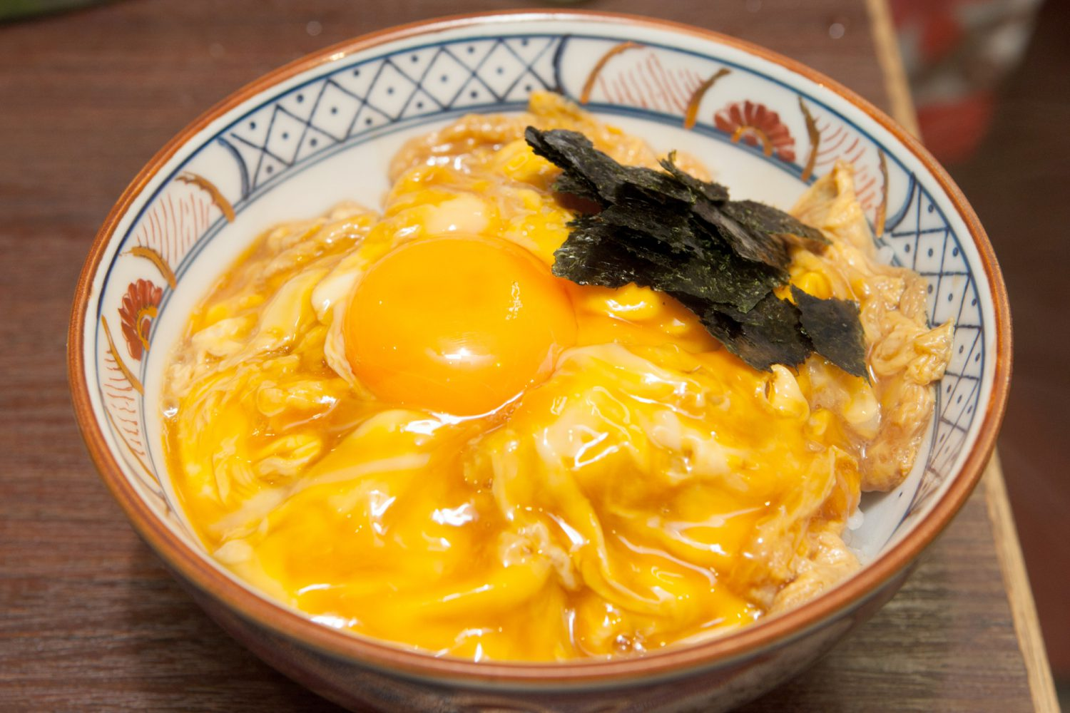 TAMAGO-DON(玉子丼) : Rice topped with partly-cooked egg raw yolk