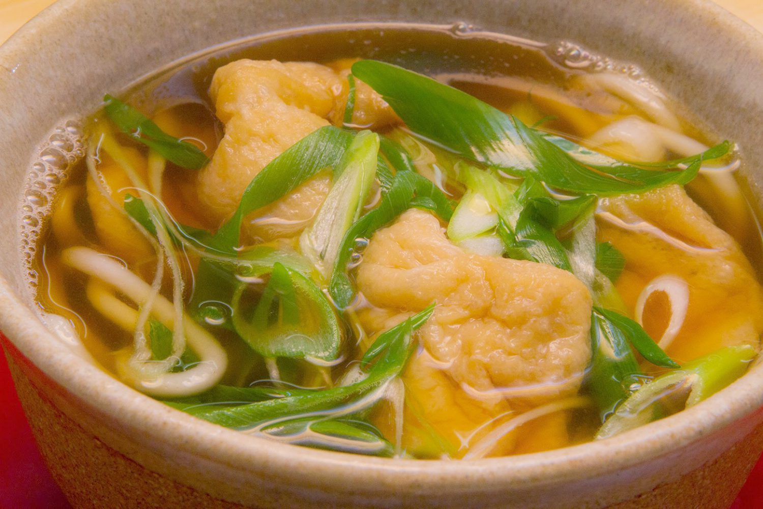 KITSUNE(FOX)(きつね(甘・きざみ)): Noodles with two fried Tofu & scallion