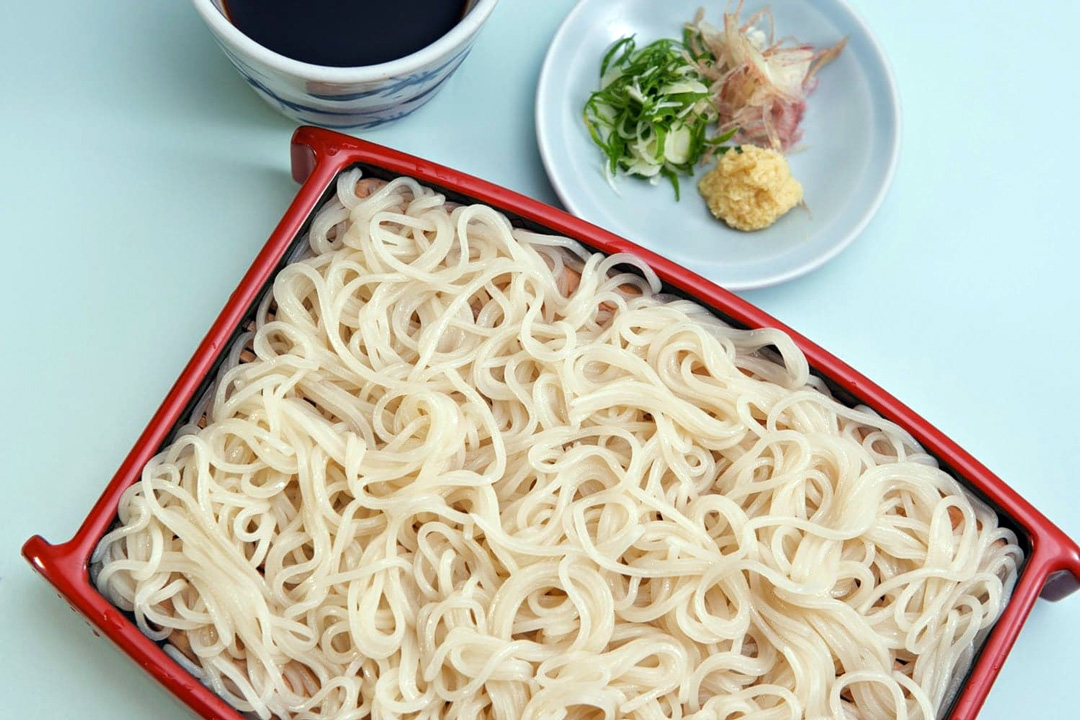 SASAME-ZARU-UDON(ささめざるうどん): Cold thin udon with dipping sauce